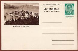 YUGOSLAVIA-CROATIA, KORCULA ISLAND, 3rd EDITION For DOMESTIC TRAFFIC ILLUSTRATED POSTAL CARD - Ganzsachen