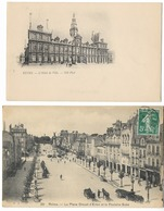 Lot De 2 Cartes  -Vues De Reims  (51) - Reims