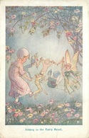 """""""JOINING IN THE FAIRY REVEL"""" ARTIST SIGNED POSTCARD #91451 - Fairy Tales, Popular Stories & Legends"""