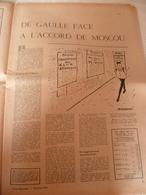 France Observateur 1963 : De Gaulle Et Moscou, Article Sur Le Défi De  Marilyn Monroe - Desde 1950