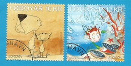 Dänemark-Färöer  2010  Mi.Nr. 698 / 699 , EUROPA CEPT - Kinderbücher - Gestempelt / Used / (o) - Europa-CEPT