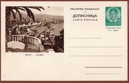 YUGOSLAVIA-CROATIA, SPLIT, 3rd EDITION For DOMESTIC TRAFFIC ILLUSTRATED POSTAL CARD - Interi Postali