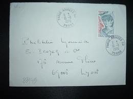 LETTRE TP ANNA DE NOAILLES 1,00+0,20 OBL.16-11 1976 75998 PARIS ARMEES 02 - Marcophilie (Lettres)