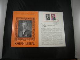"""BELG.1965 1351 FDC Folder NL.  : """" Joseph Lebeau"""" - FDC"""