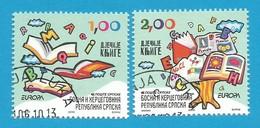 Bosnien Herzegowina Serbische Republik  2010  Mi.Nr. 493 / 494 A , EUROPA CEPT - Kinderbücher - Gestempelt / Used / (o) - Europa-CEPT