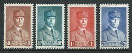 FRANCE 1941 . Série N°s 470 à 473 . Oblitérés . - France