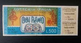 Lotteria Italiana 6 Gennaio 1964. - Billets De Loterie