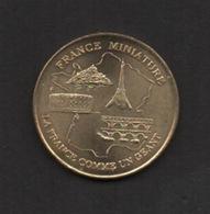 Jeton Touristique . Monnaie De Paris 2001. FRANCE MINIATURE . Millennium . - 2001