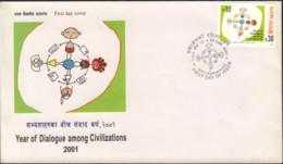 Ref. 431913 * NEW *  - NEPAL . 2001. YEAR OF DIALOGUE AMONG CIVILIZATIONS. A�O INTERNACIONAL DEL DIALOGO ENTRE CIVILIZAC - Nepal