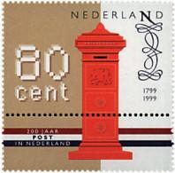 Ref. 55511 * NEW *  - NETHERLANDS . 1999. BICENTENARY OF DUTCH POSTAL SERVICE. BICENTENARIO DEL CORREO HOLANDES - 1980-... (Beatrix)