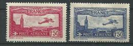 "FR Aerien YT 5 & 6 (PA)  "" Avion Survolant Marseille 1F50 Carmin Et Bleu "" Neuf* - 1927-1959 Mint/hinged"