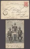 BC - Orange River. 1904 (25 Aug). Edef - Heilbron - UK. Fkd Blacks Drinking Dewars Whiskey Postcard. 1d. - Non Classés