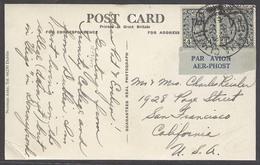 EIRE. 1946 (19 April). Atha Cuth - USA. Air Fkd PPC Air Gaelic Tied Bilingual Label. Fine Early. - Oblitérés