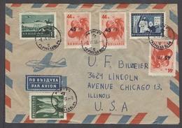 BULGARIA. 1959 (2 Sept). Prewen - USA. Air Multifkd Env Incl 3 Ovptd Stamps. Fine. - Bulgaria