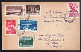 BULGARIA. 1959 (22 April). Prewen - USA / Chicago. Air Multifkd Env. VF. - Bulgaria