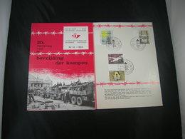 """BELG.1965 1329/1332 FDC Folder NL.   : """" Libération Des Camps/bevrijding Der Kampen """" - FDC"""
