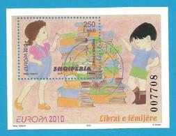 Albanien  2010  Mi.Nr. Block 176 (3336) , EUROPA CEPT - Kinderbücher - Gestempelt / Used / (o) - Europa-CEPT