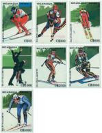 Ref. 71413 * NEW *  - NICARAGUA . 1989. XVI OLYMPIC WINTER GAMES. ALBERTVILLE 1992. 16 JUEGOS OLIMPICOS  INVIERNO ALBERT - Nicaragua