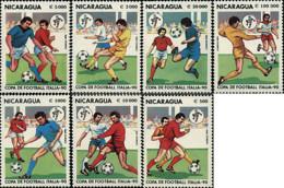 Ref. 68434 * NEW *  - NICARAGUA . 1990. FOOTBALL WORLD CUP. ITALY-90. COPA DEL MUNDO DE FUTBOL. ITALIA-90 - Nicaragua