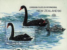 Ref. 33354 * NEW *  - NICARAGUA . 1990. NEW ZEALAND 90. PHILATELIC EXHIBITION. NUEVA ZELANDA 90. EXPOSICION FILATELICA - Nicaragua