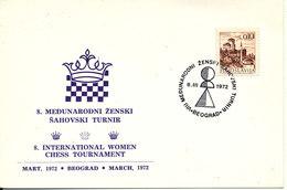 Yugoslavia Card CHESS International Women Chess Turnament Beograd 8-3-1972 - Chess