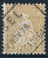 37 / 29 Sitzende Helvetia 2 Rappen Ausschnitt Sauber Kastenstempel - BASEL 12. November 1878 - 1862-1881 Helvetia Assise (dentelés)