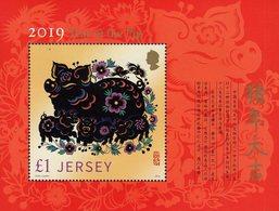 Jersey - 2019 - Lunar New Year Of The Pig - Mint Souvenir Sheet - Jersey