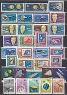 UNGARN 1958-1965 - Partie Raumfahrt Mit 33 Verschiedenen  Used - Raumfahrt