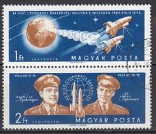 UNGARN 1962 - MiNr: 1863 -1864  Komplett  Used - Raumfahrt
