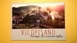 BIGLIETTO EVENTI VICOPISANO BORGO MEDIEVALE CARTONCINO STILE CARTOLINA - Biglietti D'ingresso