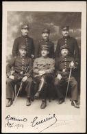 Carte Photo D' Un Groupe De Militaires - Roanne Octobre 1914 - Originale - Guerre, Militaire