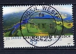 Allemagne Fédérale - Germany - Deutschland 2007 Y&T N°2441 - Michel N°2617 (o) - 55c Barrage De Bleiloch - Gebruikt
