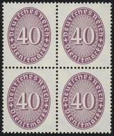 121X Strohhut 40 Pf Viererblock Postfrisch ** - Dienstpost
