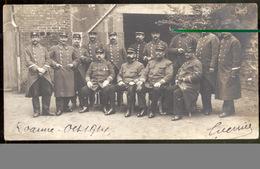Carte Photo D' Un Groupe De Militaires - Roanne 1914 - Originale - Guerre, Militaire