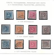 3000a: Österreich 1908- 1910, ANK 157- 160 X,y,z Komplett Gestempelt, Katalogwert 86.- € - Usati