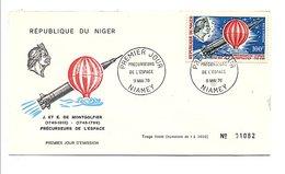 NIGER 1970 PRECURSEURS DE L'ESPACE - MONTGOLFIER - Montgolfières