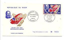 NIGER 1970 PRECURSEURS DE L'ESPACE - GALILEE - Célébrités