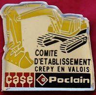 JJ...383..ENGINS DE CHANTIER/TRAVAUX PUBLIC/ELEVATEURS/TRACTEURS....... CASE   POCLAIN - Pin's