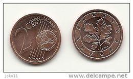 2 Cent, 2014, Prägestätte (F) Vz, Sehr Gut Erhaltene Umlaufmünze - Deutschland