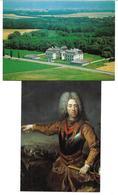 3000m: 2 AKs Niederweiden Nächst 2292 Engelhartstetten, Gemälde Prinz Eugen, Ungelaufen - Gänserndorf