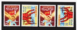 SRO274 ALBANIEN 1975 Michl 1755/56 Postfrisch + Gestempelt - Albanien