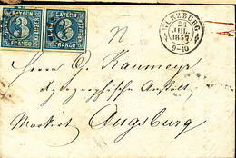 GERMANY BAYERN COVER FROM WURZBURG 1857 - Bayern