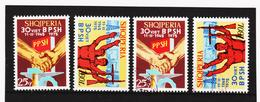SRO275 ALBANIEN 1975 Michl 1755/56 Postfrisch + Gestempelt - Albanien