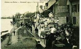 3374 -  CHALONS Sur SAONE : Carnaval 1914 - CHAR LES  100 Kilogs LE LONG DELA VOIE FERREE (T.Rare) - Chalon Sur Saone