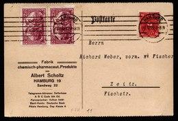 A6086) DR Infla Karte Hamburg 30.12.22 N. Zeitz M. Mi.115 Ua. - Briefe U. Dokumente