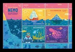 Hungary 2019 Mih. 6028/31 (Bl.423) Jules Verne. Captain Nemo. Ships MNH ** - Ungarn