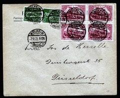 A6087) DR Infla Brief Mülheim 07.12.22 N. Düsseldorf M. Mi.115 (4) Ua. - Briefe U. Dokumente