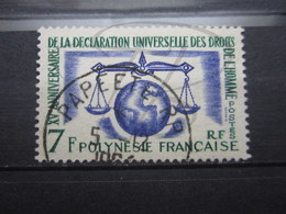 "VEND BEAU TIMBRE DE POLYNESIE N° 25 , OBLITERATION "" PAPEETE "" !!! - Polinesia Francese"