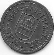 *notgeld  Speyer 10 Pfennig 1917 Zn 12700.2 - Autres
