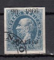 Mexique  Empereur Maximilien  1866  13c Bleu - Mexique